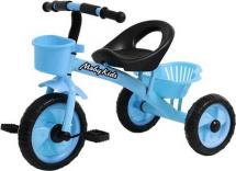 Велосипед трехколесный Moby Kids Пони 2 корзинки, голубой