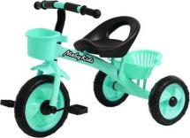 Велосипед трехколесный Moby Kids Пони 2 корзинки, бирюзовый