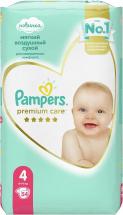 Подгузники Pampers Premium Care 4 (9-14 кг) 54 шт