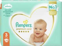 Подгузники Pampers Premium Care 3 (6-10 кг) 74 шт