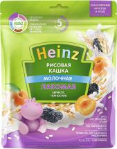 Каша Heinz Лакомая молочная рисовая с абрикосом и черносливом с 6 мес 170 г