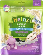 Каша Heinz Лакомая молочная овсяная яблоко-черника-черная смородина с 5 мес 170 г