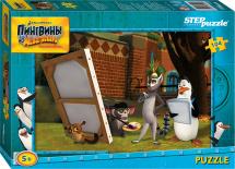 Пазлы Steppuzzle Dreamworks. Пингвины из Мадагаскара 104 элемента