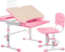 Парта-трансформер FunDesk Bellissima Pink + стул