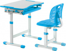 Парта-трансформер FunDesk Piccolino III Blue + стул