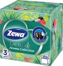 Салфетки бумажные косметические Zewa Deluxe Арома Коллекция 3 слоя 60 шт