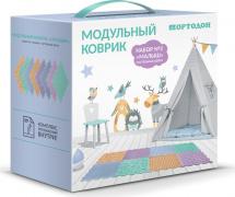 Массажные коврики Орто Малыш Пастель 8 шт