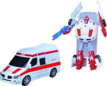 Трансформер Робот-Машина Пламенный мотор Скорая помощь, металл