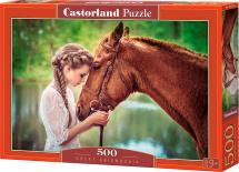 Пазлы Castorland Девушка и лошадь 500 элементов