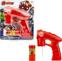 Мыльные пузыри 1Toy Пистолет. Железный человек 60 мл со светом