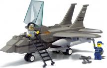 Конструктор Sluban Воздушные войска Истребитель F-15 142 детали