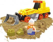 Конструктор с кинетическим песком Bauer Building Kinetic  Набор с грейдером 37 элементов