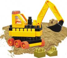 Конструктор с кинетическим песком Bauer Building Kinetic Набор с бульдозером 38 элементов