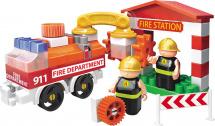 Конструктор Bauer Fireman. Пожарная машина и пожарный гидрант