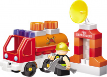Конструктор Bauer Fireman. Fireman Пожарная машина с цистерной