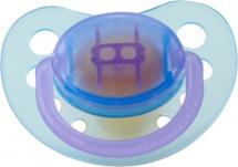Пустышка Mepsi латекс симметричная с 0 мес, голубой-фиолетовый