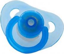 Пустышка Mepsi латекс круглая с 6 мес, голубой