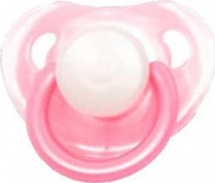 Пустышка Mepsi латекс круглая с 0 мес, розовый