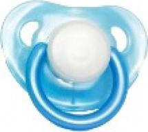 Пустышка Mepsi латекс круглая с 0 мес, голубой