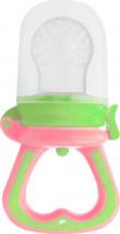 Ниблер Mepsi силиконовый со сменной сеточкой, зелено-розовый