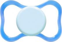 Пустышка Mepsi силикон симметричная с 6 мес, голубой