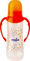 Бутылочка Mepsi Травы и цветы с ручками 250 мл, оранжевый