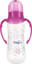 Бутылочка Mepsi Травы и цветы с ручками 250 мл, розовый