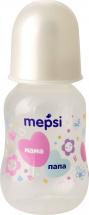 Бутылочка Mepsi Мама и папа 125 мл, белый