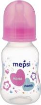 Бутылочка Mepsi Мама и папа 125 мл, розовый