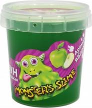 Слизь Monsters Slime Яблоко 100г, зеленый