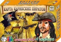 Настольная игра Добрые игрушки Карта Карибских пиратов + раскраски