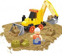 Конструктор с кинетическим песком Bauer Building Kinetic Набор с трактором 30 элементов