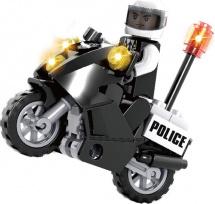 Конструктор Ausini Полиция. Мотоцикл 25 деталей