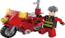Конструктор Ausini Пожарная бригада. Мотоцикл 26 деталей