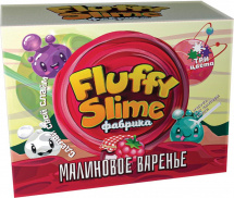 Набор для опытов Юный Химик Fluffy Слайм фабрика. Малиновое варенье 3 шт