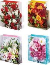 Пакет подарочный Розы 26х32 см
