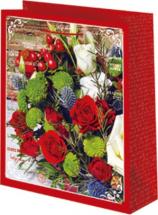 Пакет подарочный Красные розы 18х23 см