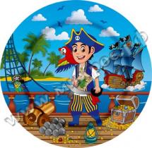 Набор тарелок Пиратский корабль 23 см, 6 шт