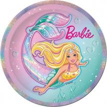 Набор тарелок Барби 18 см, 10 шт