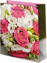 Пакет подарочный Цветы 12х15 см