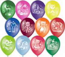 """Воздушный шарик 12""""/30см Веселый зоопарк 1шт, цвет микс"""