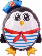 """Воздушный шарик 31""""/79см Пингвин Морячок"""