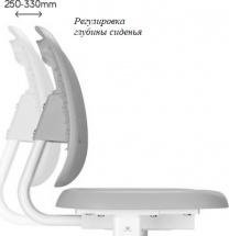 Парта-трансформер FunDesk Piccolino III Grey + стул