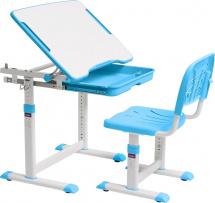 Парта-трансформер FunDesk Cubby Sorpresa Blue + стул