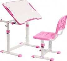 Парта-трансформер FunDesk Cubby Olea Pink + стул