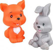 Игрушки для купания Жирафики Лисёнок и зайчонок