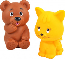 Игрушки для купания Жирафики Мишка и котёнок