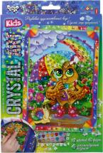Мозаика алмазная Crystal Art Сова и радуга