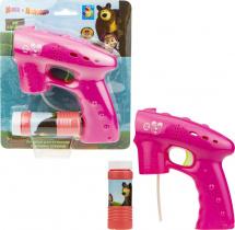 Мыльные пузыри 1Toy Пистолет. Маша и медведь 60 мл со светом (уценка)