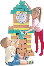 Конструктор Шар-Папье Башня с часами 80 деталей